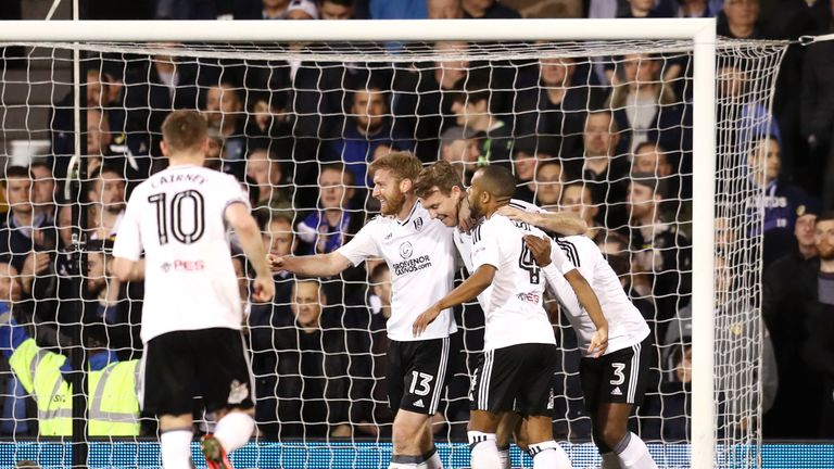 Kevin McDonald (c) is confident Fulham can overturn a 1-0 deficit against Derby to reach Wembley