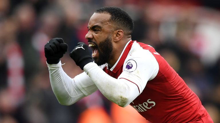 Alexandre Lacazette netted for only the second time in 14 games for Arsenal