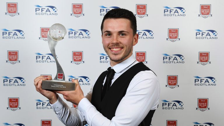 St Mirren's Lewis Morgan wins the PFA Scotland Championship Player of the Year Award