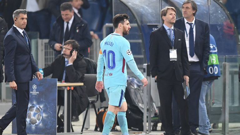 Messi looks dejected after the final whistle