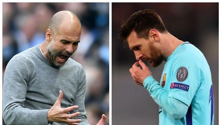 Pep Guardiola Lionel Messi Man City Barcelona
