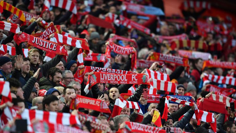 Liverpool supporters have been voted by rival fans as the noisiest in the Premier League, both at Anfield and away from home