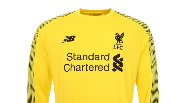 Liverpool's new goalkeeper shirt is in Viper Yellow with black patterned sleeves