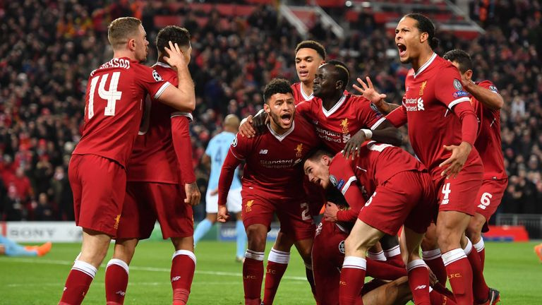 Liverpool built a commanding 3-0 lead in their Champions League quarter-final first leg against Man City