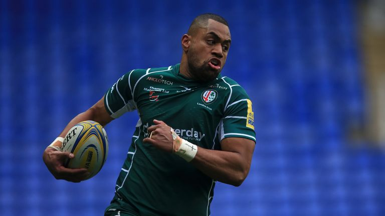 Joe Cokanasiga was one of two try scorers for London Irish