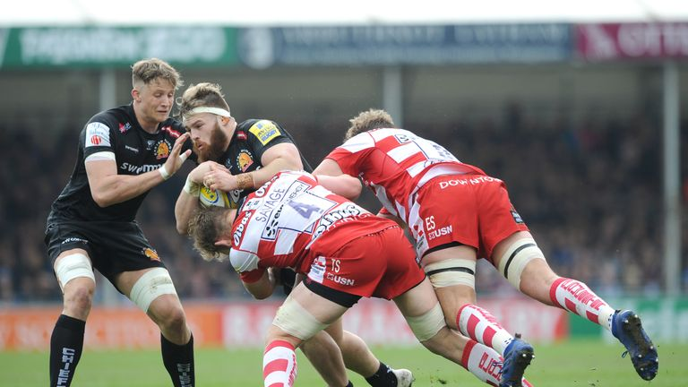 Exeter Chiefs are eight points above Saracens at the top of the Premiership table