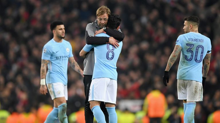 The Reds mustered only 309 passes during the entire game, compared with City's 646