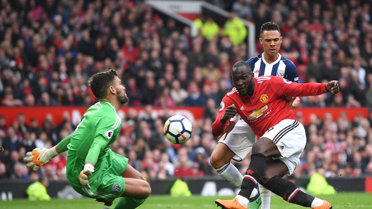 West Brom goalkeeper Ben Foster made a brilliant save to deny Manchester United striker Romelu Lukaku in the first half