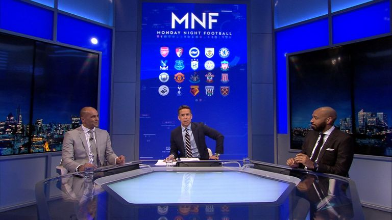 David Jones was joined by Thierry Henry and Roberto Martinez on Monday Night Football