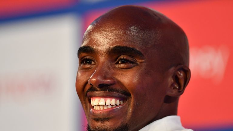 Farah finished third in the hottest ever London Marathon in April