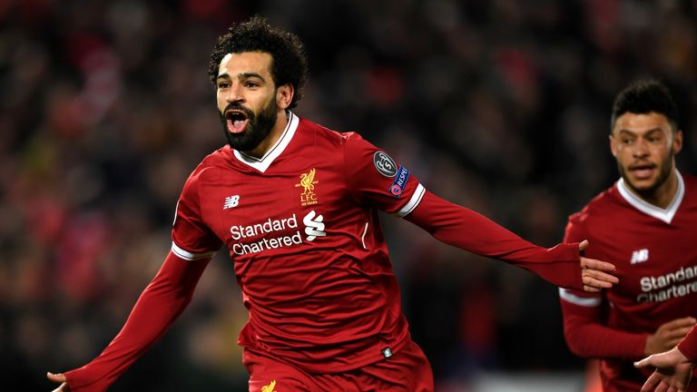 Salah was forced off with an injury during the 3-0 win over Manchester City