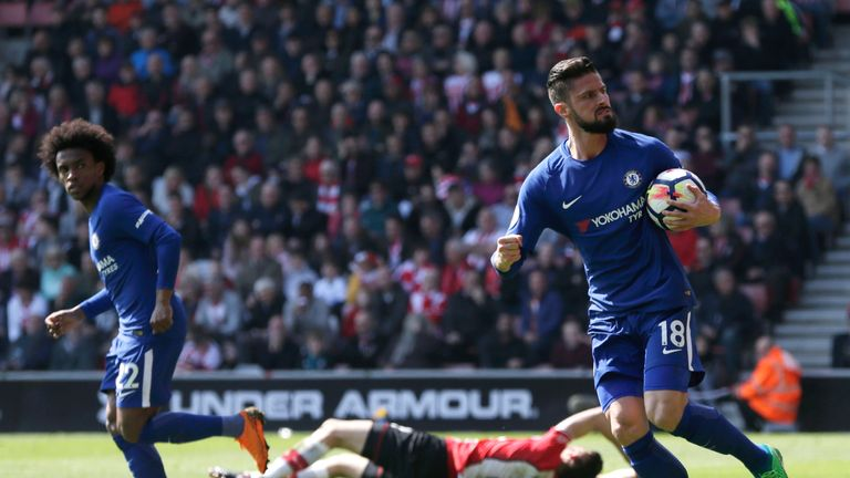 Olivier Giroud was the hero for Chelsea last weekend against Southampton