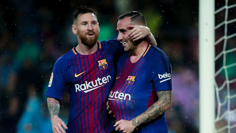 Paco Alcacer (right) has struggled to play regular football at Barcelona