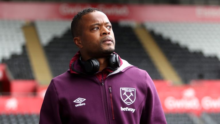 during the Premier League match between Swansea City and West Ham United at Liberty Stadium on March 3, 2018 in Swansea, Wales.