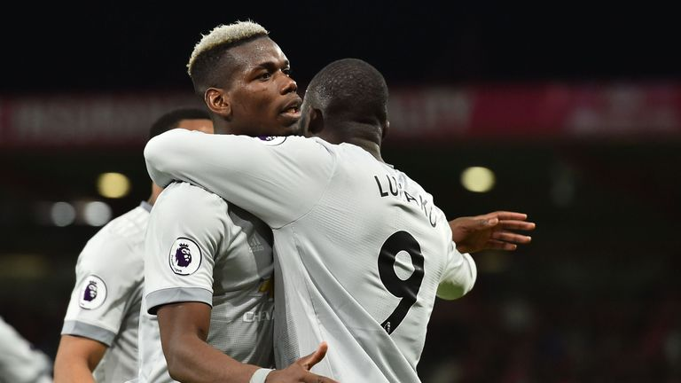 Paul Pogba set up Romelu Lukaku's goal against Bournemouth