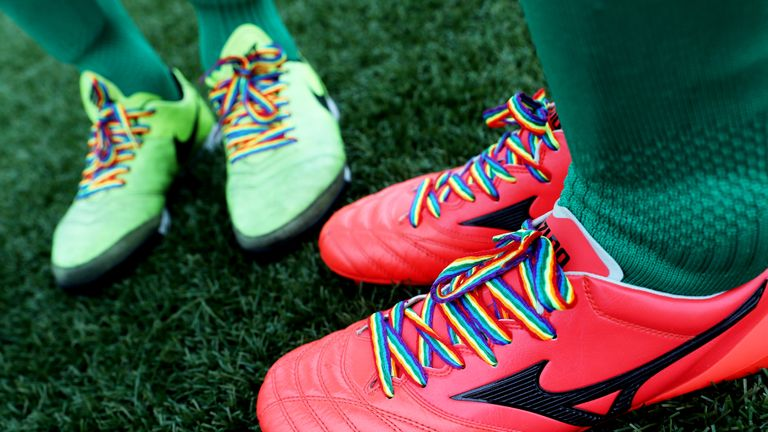 Stonewall FC are sponsored by TeamPride, the consortium that supports the Rainbow Laces campaign