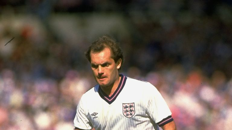 Ray Wilkins of England in action during the International Friendly match against the USSR at Wembley Stadium on June 2, 1984