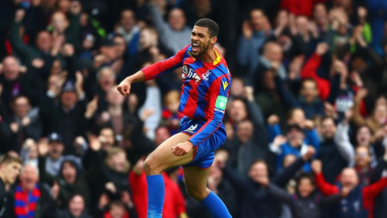 Ruben Loftus-Cheek celebrates after scoring a third for Crystal Palace during the Premier League match against Leicester City at Selhurst Park