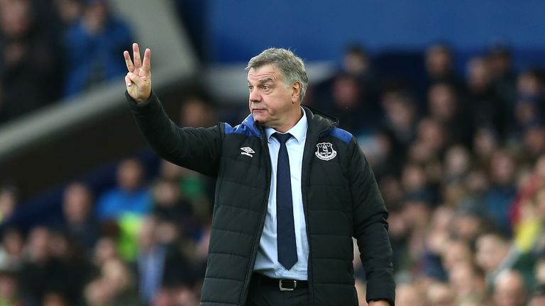 Sam Allardyce during the Premier League match between Everton and Brighton and Hove Albion at Goodison Park on March 10, 2018 in Liverpool, England.