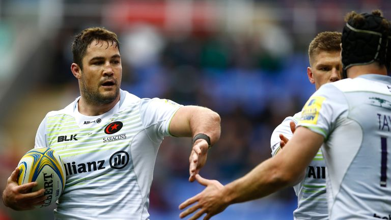 Brad Barritt crossed over for Saracens in their resounding victory