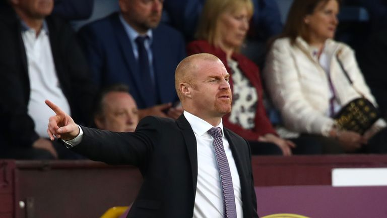 Sean Dyche saw his five-match winning run ended