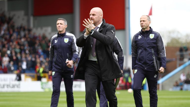 Sean Dyche has led Burnley to seventh place in the Premier League