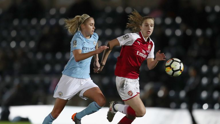 Captain Steph Hughton put personal issues behind her to lead Man City to victory