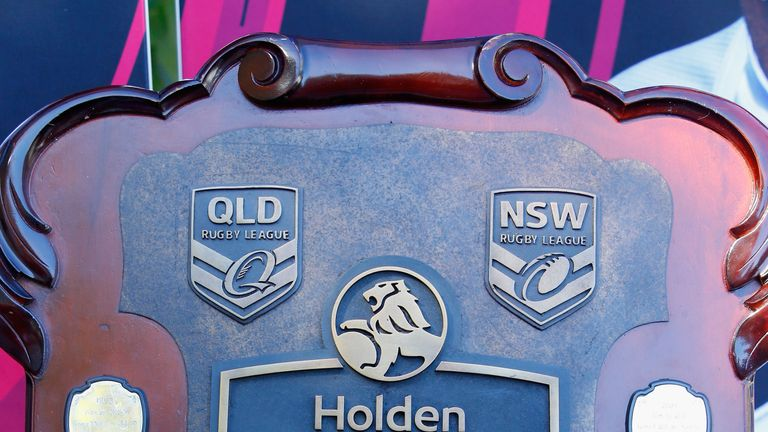 The State of Origin shield is seen during the 2018 launch