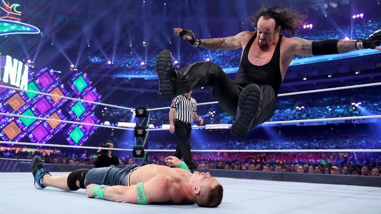 Undertaker fought John Cena at WrestleMania in April, an opponent he has a lot of admiration for