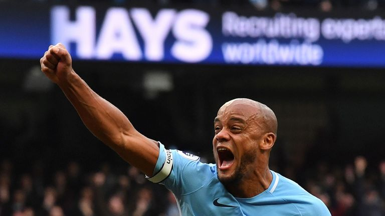 Vincent Kompany will be handed the Premier League trophy on May 6