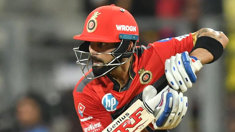 Virat Kohli (pictured) forms a dangerous double-act with AB de Villiers for RCB (Credit: AFP)