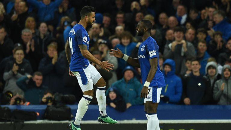 Theo Walcott opened the scoring for Everton