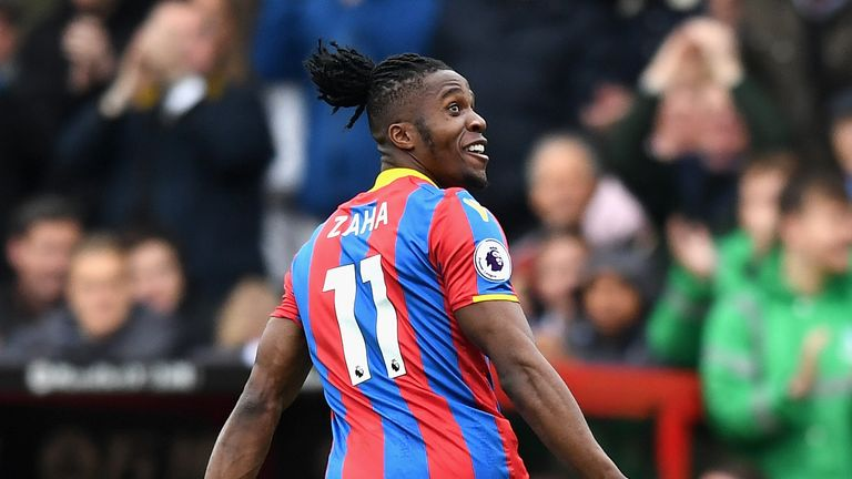 Wilfried Zaha opens the scoring for Palace
