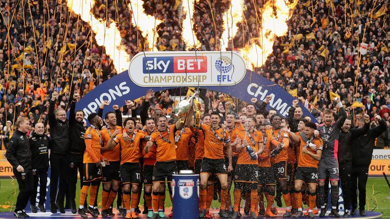 Wolves recorded 99 points as they won the Sky Bet Championship last year
