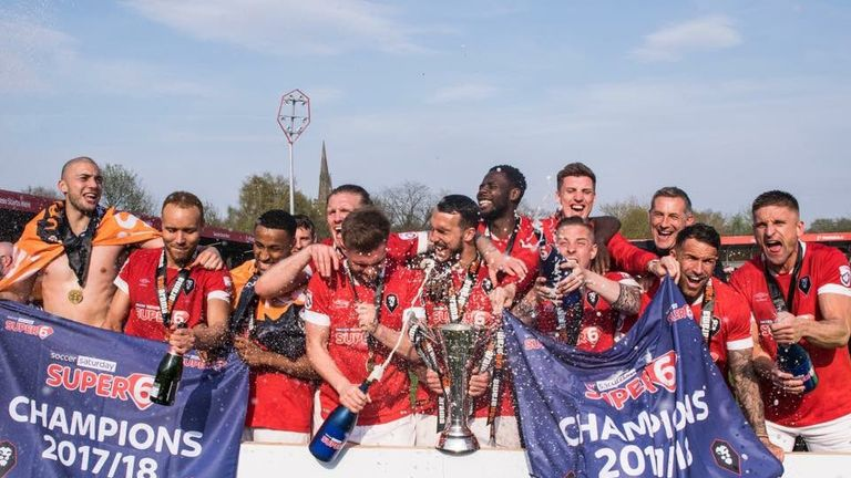 Salford City were crowned champions of National League North on Saturday