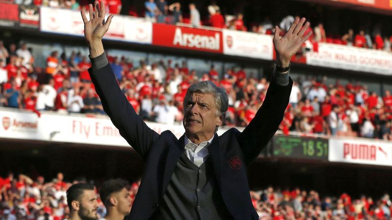 Wenger led Arsenal to three Premier League titles and seven FA Cups