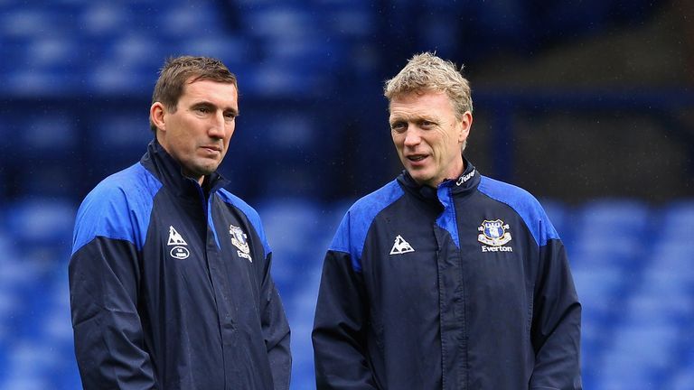 Alan Stubbs (left) was Everton's U23s coach under David Moyes