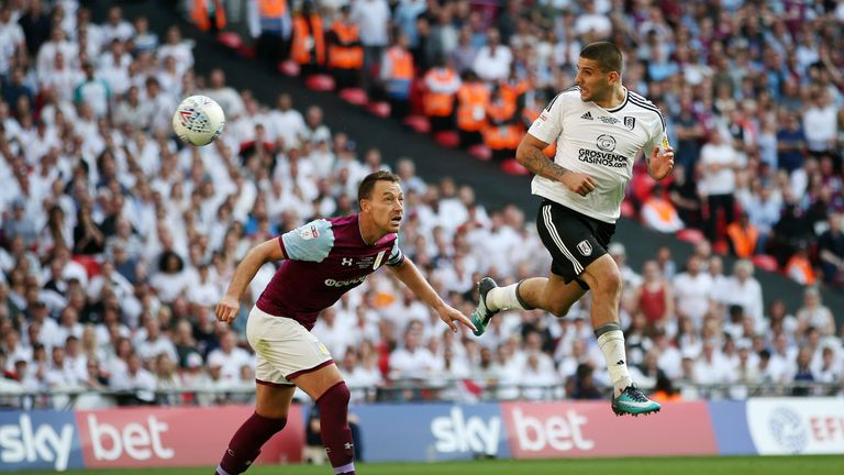 during the Sky Bet Championship Play Off Final between Aston Villa and  Fulham at Wembley Stadium on May 26, 2018 in London, England.