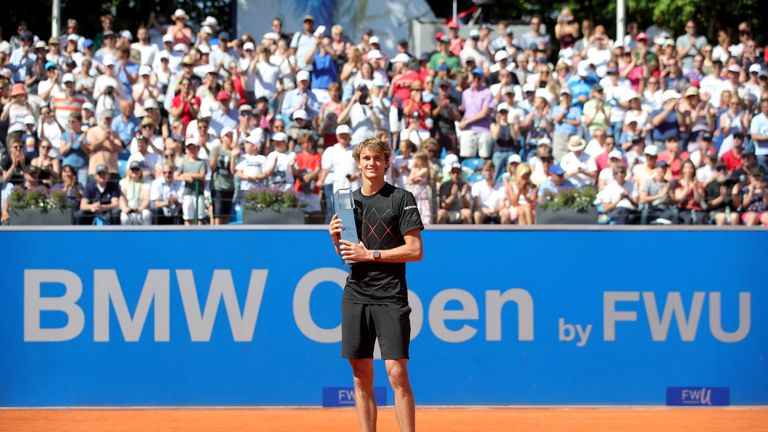 Alexander Zverev delighted the home crowd to claim the BMW Open