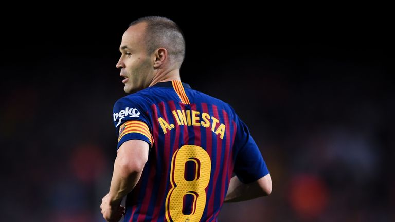 Andres Iniesta during the La Liga match between Barcelona and Real Sociedad at Camp Nou on May 20, 2018 in Barcelona, Spain