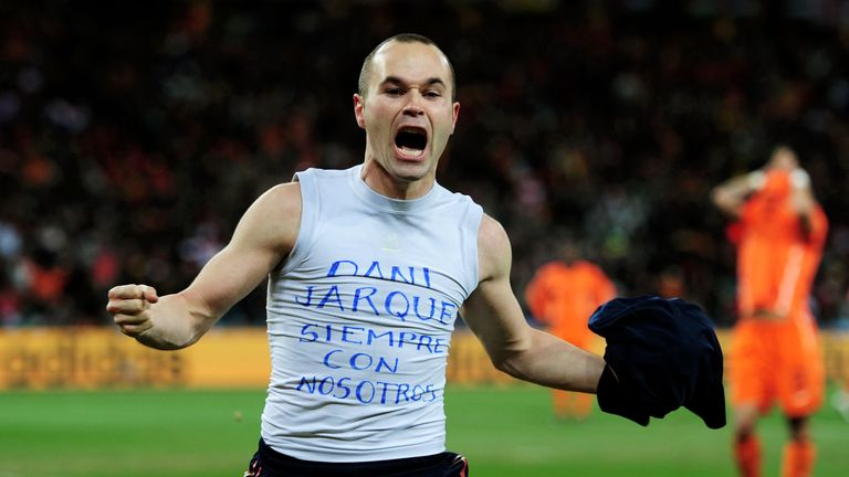 Andres Iniesta struggled following the death of his friend Dani Jarque