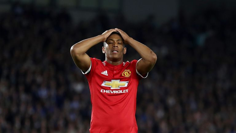 Anthony Martial could not make an impact on the south coast