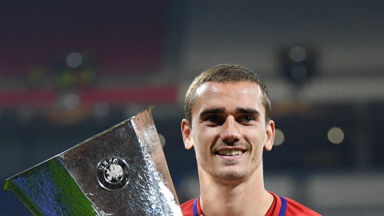 Antoine Griezmann starred for Atletico Madrid as they beat Marseille 3-0 to win the Europa League