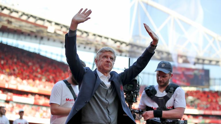 Wenger bid farewell to the Arsenal crowd at the Emirates on Sunday