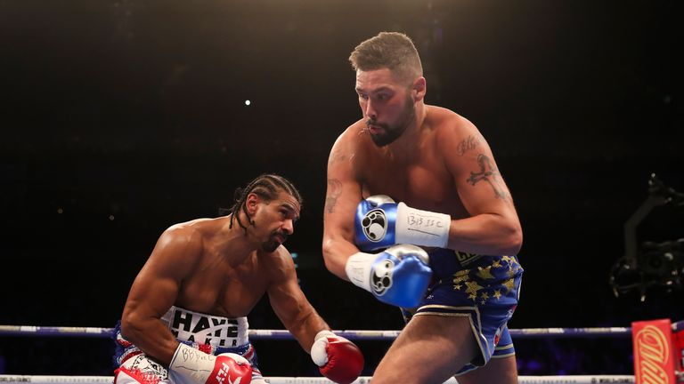 Tony Bellew stopped David Haye in the fifth round at The O2