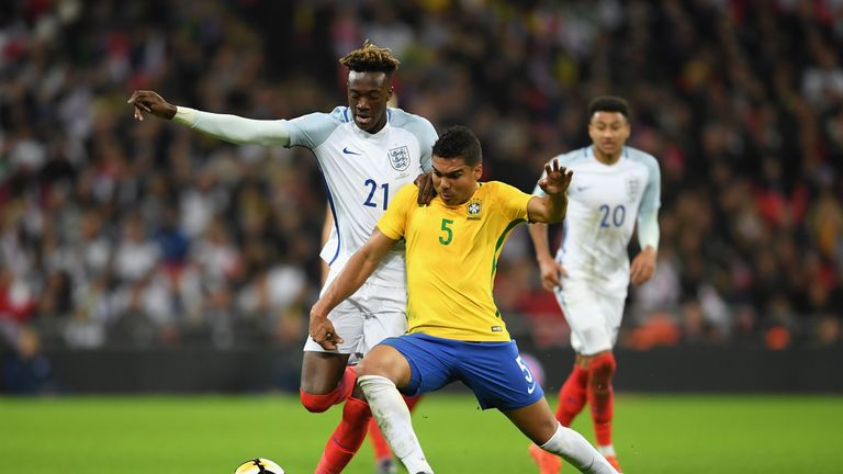during the international friendly match between England and Brazil at Wembley Stadium on November 14, 2017 in London, England.