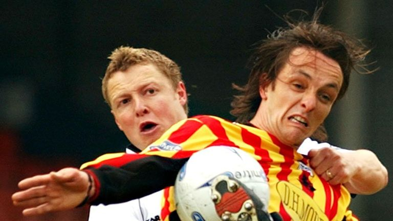 Britton played for Thistle for seven years during two spells