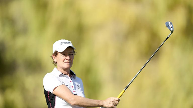 Catriona Matthew carded rounds of 69 and 75 at the Buckinghamshire