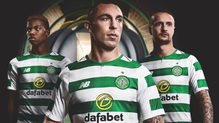 Celtic captain Scott Brown modelled the new strip at the launch