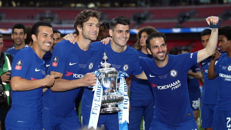 Marcos Alonso, Morata and Cesc Fabregas won the FA Cup with Chelsea on Saturday, but none will be going to Russia